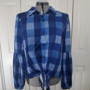 FRENCH LAUNDRY Blue Shirt Size XL